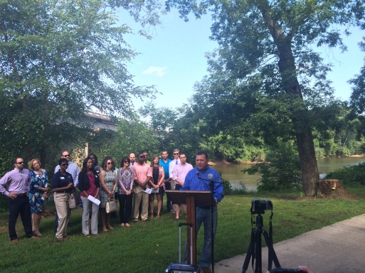 Stephen Lawson, Director of Macon-Bibb Parks and Beautification, one of LM 2016's partners in Bridging the Trail